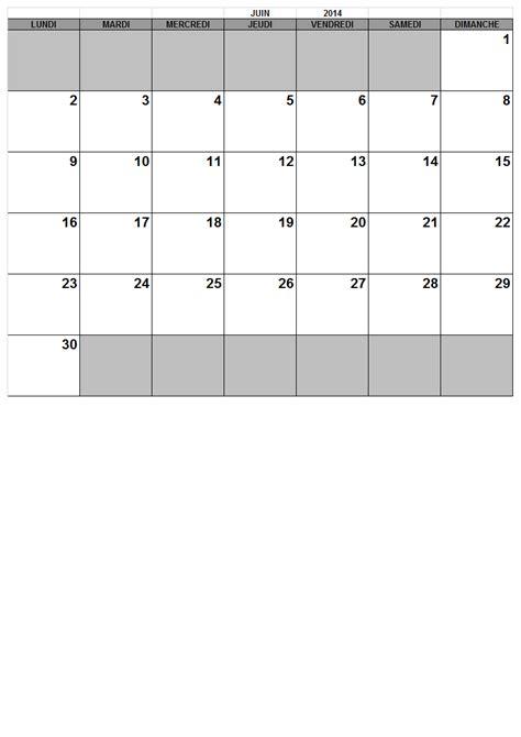 Calendrier Juin Juillet 2013 Mensuel 2014 Calendrier Gratuit