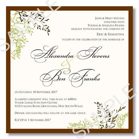 pdf invitation templates free wedding invitation templates pdf invitation template