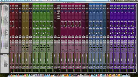 Mixing Template Jeffrey Baker Pro Tools Templates