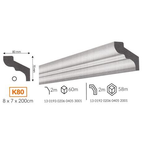 cornici polistirene profilo cornice da soffitto k80 in polistirene
