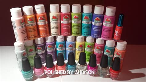 polished by audison walmart haul la colors acrylic paint hauls