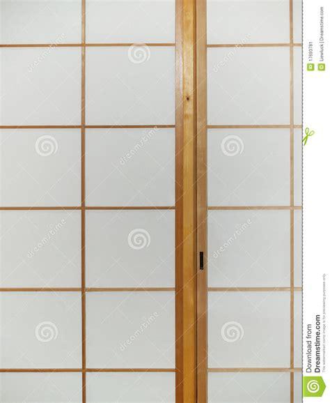 Paper Door by Sliding Paper Door Stock Image Image 17693781