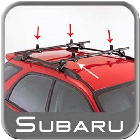 subaru ski rack cls thule square style crossbars for