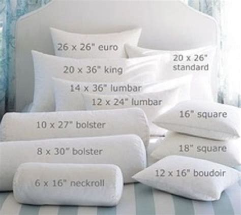 Standard Pillow Measurements by Standard Dimensions Choosing The Standard Pillow Form