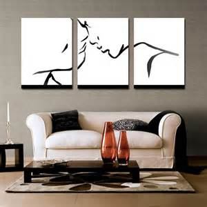 Black White Wall Decor 3 Piece Wall Decor Colorful Abstract Art Lovers Wall Art