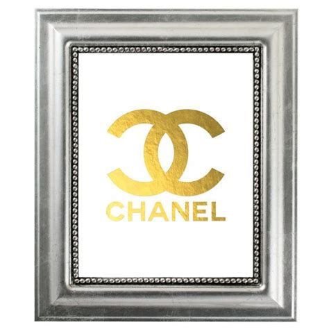 printable typography coco chanel quote gold foil gold lips chanel gold monogram logo art print coco chanel gold