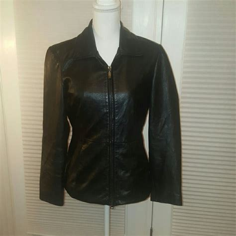 Guess Genuine Leather 68 guess jackets blazers guess black genuine