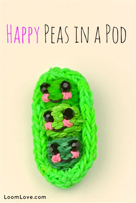 rainbow loom happy peas   pod