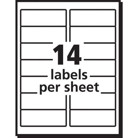 avery 14 labels per sheet template avery avery address label for laser printers 5162 pk100