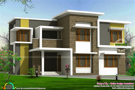 box type home in beautiful style kerala home design and 2300 sq ft box type home kerala home design and floor plans