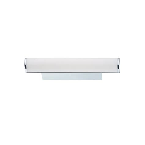 Dar Bathroom Lighting Dar Sut0750 Sutton Led Chrome White Glass Bathroom Wall Light