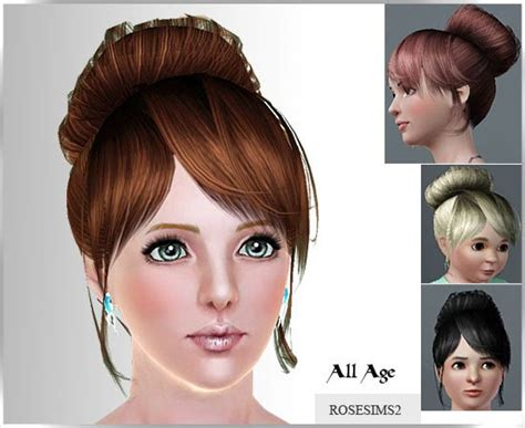 sims 3 free hair my sims 3 blog new hair and earrings by rose free