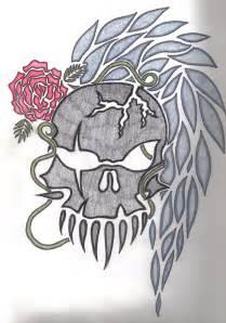 skull tattoo sketch by angstychibihiei on deviantart