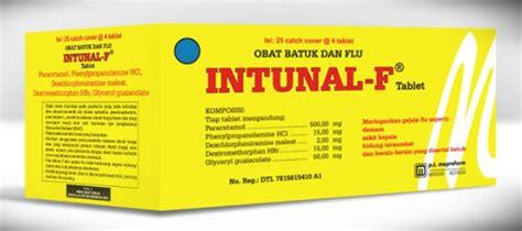 Obat Intunal intunal f kegunaan dosis efek sing mediskus