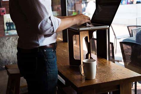standing desk platform handmade bamboo standstand portable standing desk gadgetsin
