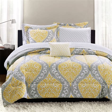 walmart bed in a bag sets yellow and navy bedding nana s workshop