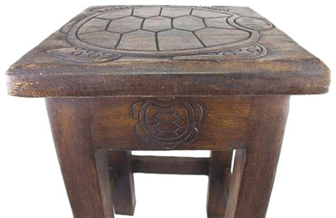 sea turtle table ls hand carved sea turtle stained wooden side end table 18