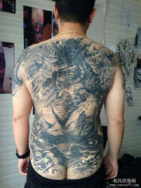 满背纹身图案大全男图片