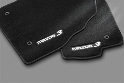 Mazda 3 Floor Mats by Genuine 2010 2013 Mazda 3 Floor Mats Charcoal Mazda3 Logo