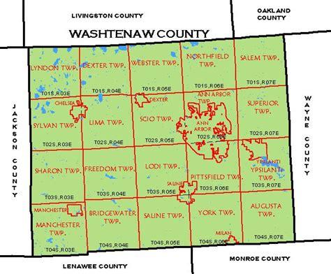 Washtenaw County Search Map Of Washtenaw County Michigan Michigan Map