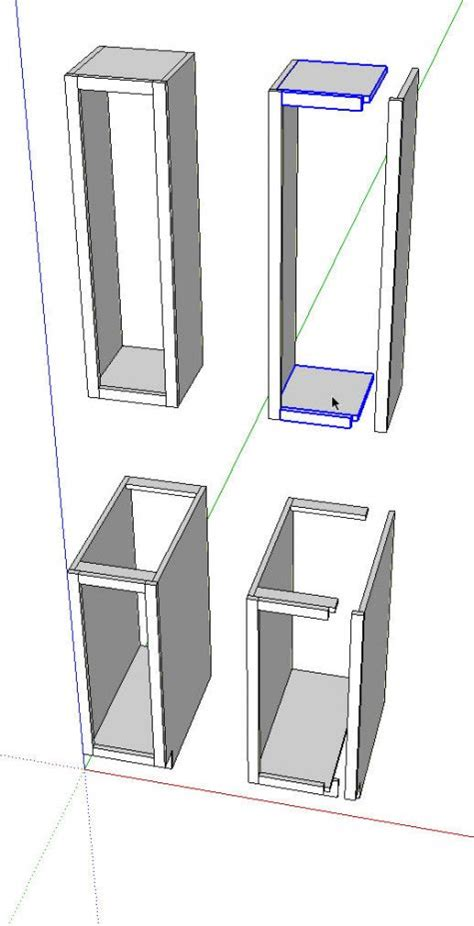 kitchen cabinet components kitchens in sketchup finewoodworking