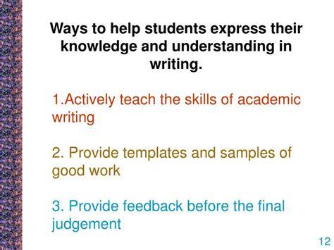 ppt improving students writing in assessment tasks