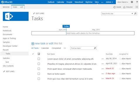 sharepoint task list template sharepoint task list for windows phone alon