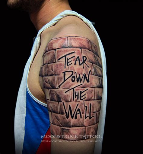 pink floyd the wall tattoo designs moonstruck pink floyd tear the wall
