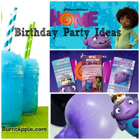 home party ideas dreamworks home birthday party ideas burnt apple