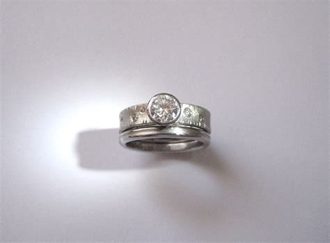 wedding set in palladium and alexandra hart jewelry
