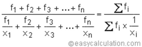 harmonic mean frequency calculator