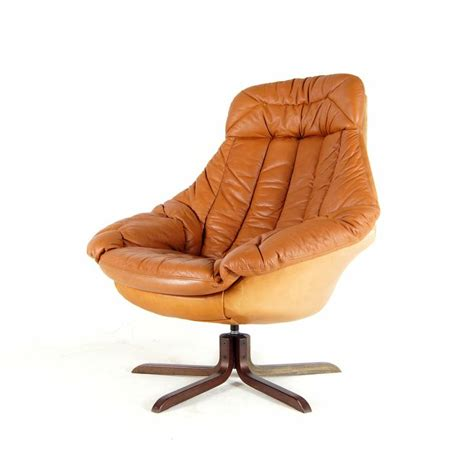 retro swivel armchair retro vintage danish brahmin swivel base leather armchair