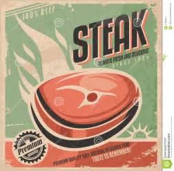 steak retro poster design stock vector image 47486814