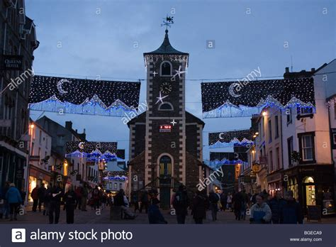 town centre lights keswick town centre lights cumbria lake district