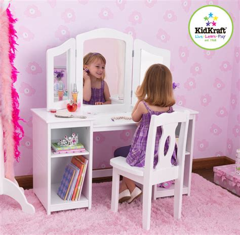 Kidkraft Deluxe Vanity And Chair by Enchanted Forest Toys Stockist Of Rubens Barn Empathy Dolls And Special Needs Dolls Wide