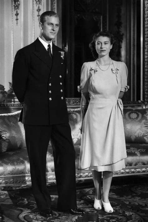 Princess Elizabeth and Prince Philip engagement photo