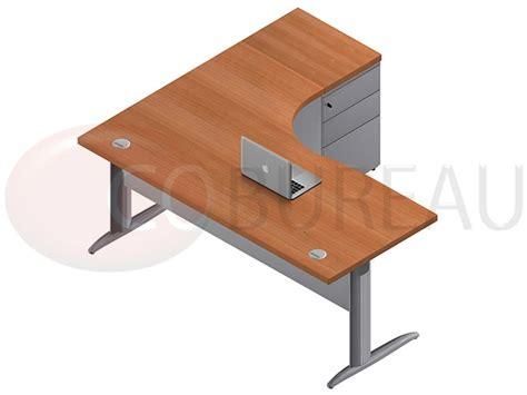 mobilier bureau pro bureau compact 180 cm pro m 233 tal avec caisson m 233 tallique