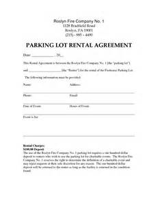 Car Park Lot Rental Agreement Best Photos Of Parking Lot Template Parking Lot Template