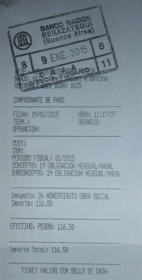 constancia de cai monotributo afip argentina monotributo newhairstylesformen2014 com