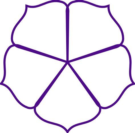 Flower Clipart Outline purple flower outline clip at clker vector clip royalty free domain