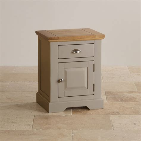 grey painted tables oak and light grey painted bedside table with