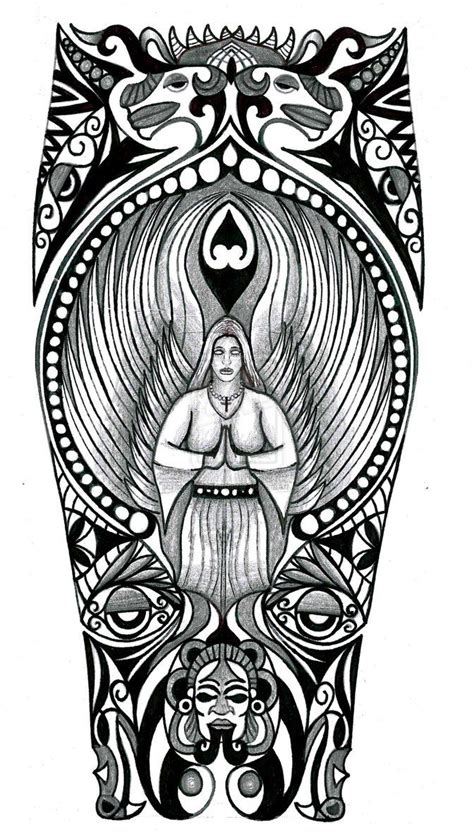 mexican tribal tattoos designs 38 best aztec tribal stencil images on