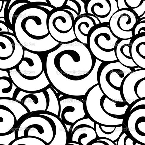 spiral pattern black and white seamless vector black and white spiral pattern stock