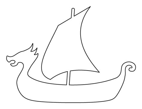 printable viking ship template