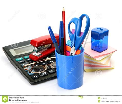 accessories for a office accessories stock images image 22181594