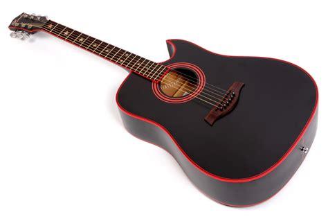 Gitar Akustik lindo widow matte black acoustic guitar gigbag free
