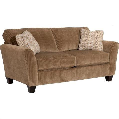 broyhill maddie microfiber mocha apartment sofa 6517 2q