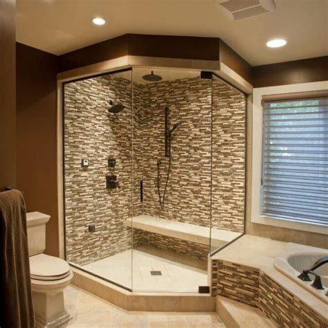 bathroom tile ideas pinterest corner walk in shower idea master bath home decorating