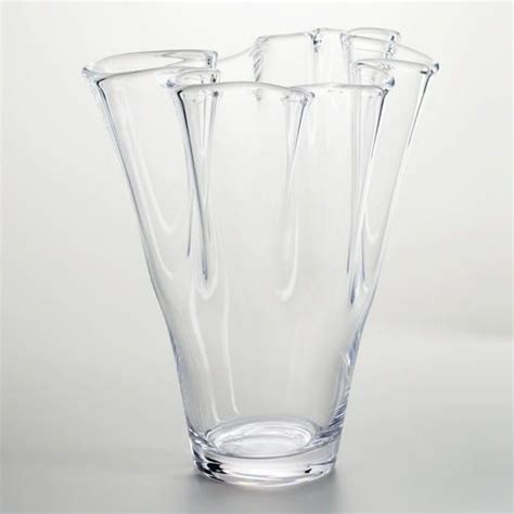 clear handkerchief ruffle glass vase for the home