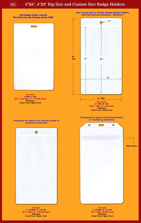 id card design and size sports tickets holders plastic ticket holder for sporting